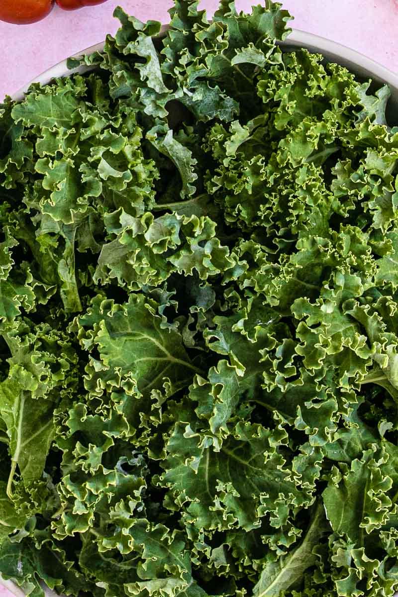 Close up of kale lettuce
