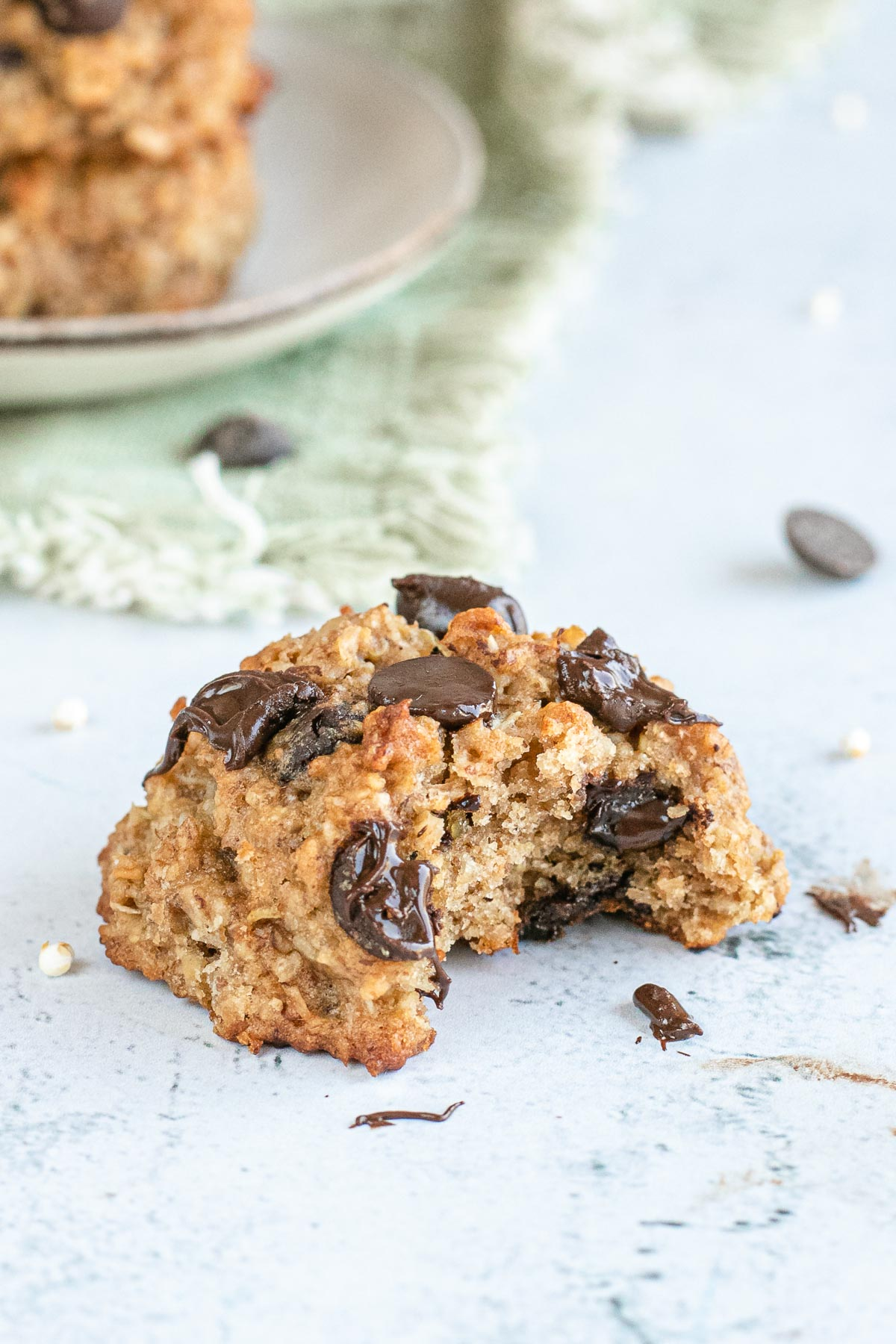 Quinoa Cookies with a bite taken