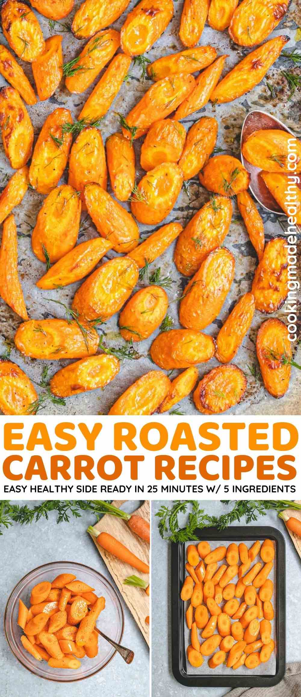 roasted carrots collage