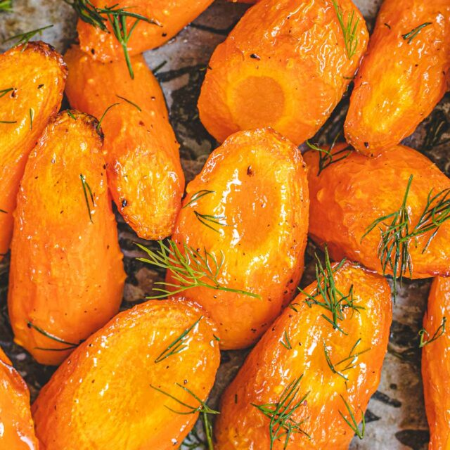 Roasted Carrots close up
