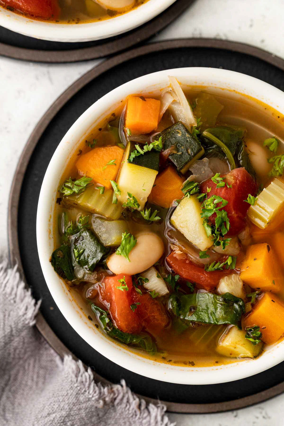 Tuscan-Vegetable-Soup in bowl