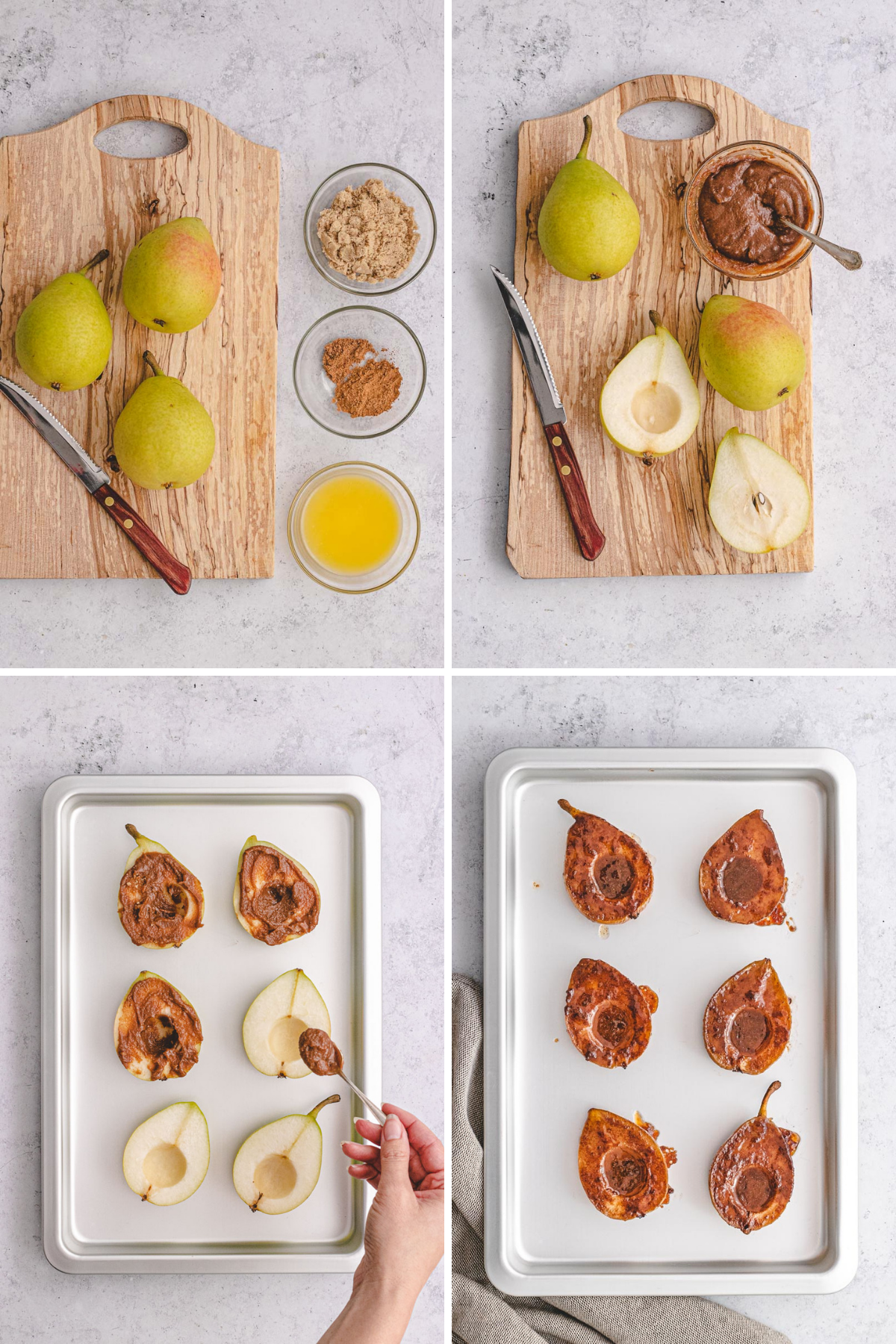 Baked Pears Collage